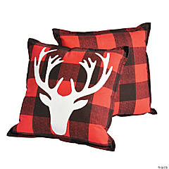 Holiday Buffalo Plaid Throw Pillows