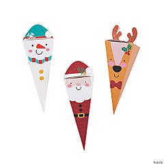 Holiday Character Glitter Treat Cones