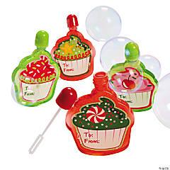 Holiday Cupcake Bubble Bottles