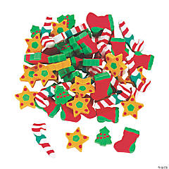 Holiday Eraser Assortment - 60 Pc.