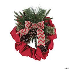 Holiday Handicraft Burlap Wreath