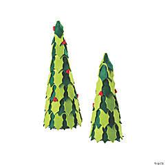 Holiday Handicraft Holly Cone Trees
