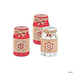 Holiday Handicraft Mason Jar Centerpiece