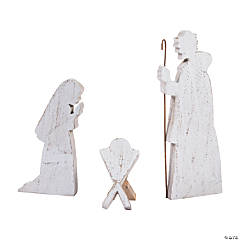 Holiday Handicraft Rustic Nativity Set