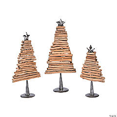 Holiday Handicraft Wood Tree Set