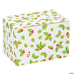 Holiday Holly Leaves Treat Boxes