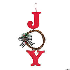 Holiday Joy Wall Hanging with Wreath