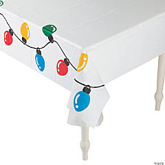 Holiday Lights Plastic Tablecloth