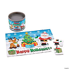 Holiday Puzzle in Cans