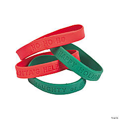 Holiday Sayings Rubber Bracelets