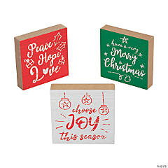 Holiday Spirit Tabletop Blocks