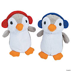 Holiday Stuffed Penguins with Earmuffs