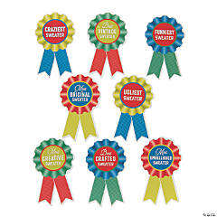 Holiday Ugly Sweater Party Award Ribbon Stickers