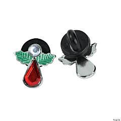 Holly Angel Rhinestone Pins