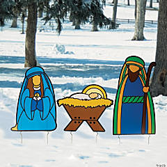 Holy Family Outdoor Yard Stakes