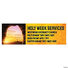 Holy Week Easter Custom Banner - Large