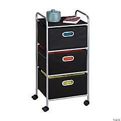 Honey Can Do 3 Drawer Rolling Cart - Black