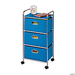 Honey Can Do 3 Drawer Rolling Cart - Blue