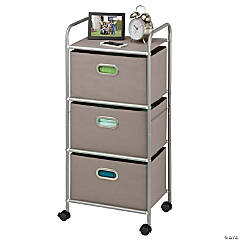 Honey Can Do 3 Drawer Rolling Cart - Gray