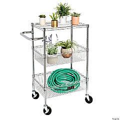 Honey Can Do 3 Shelf Storage Cart - Chrome