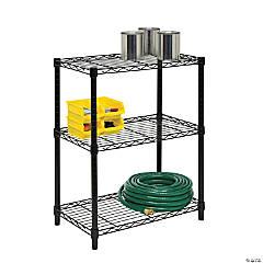 Honey Can Do 3-Tier Heavy Duty Adjustable Shelving Unit - Black