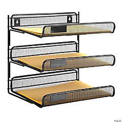 Honey Can Do 3-Tier Mesh Desk Organizer - Black