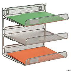 Honey Can Do 3-Tier Mesh Desk Paper Organizer - Silver