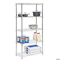 Honey-Can-Do 5-Tier Steel Urban Adjustable Storage Shelving Unit - Chrome