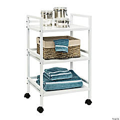 Honey Can Do Metal Rolling Cart - White