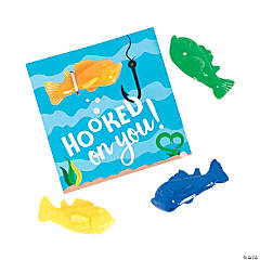 Hooked on You Fish Valentine's Day Cards