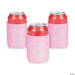 Hooray for Our Special Day Can Coolers