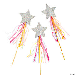 Hooray It's Your Birthday Pastel Star Wands