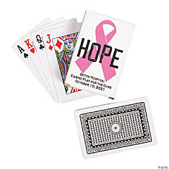 Hope Awareness Ribbon Playing Cards with Personalized Box