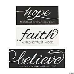 Hope, Faith, Believe Tabletop Signs