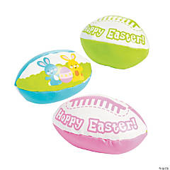 Hoppy Easter Foam Footballs PDQ