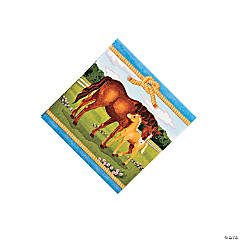 Horse Party Beverage Napkins