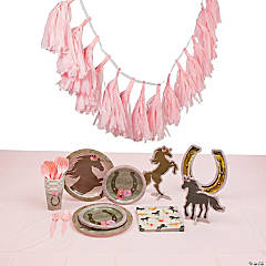 Horse Party Tableware Kit for 8 Guests