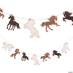Horse Silhouette Garland