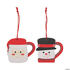 Hot Cocoa Holiday Mug Ornaments