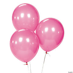 "Hot Pink 11"" Latex Balloons"