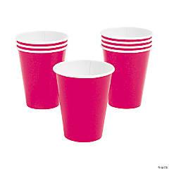 Hot Pink 9 oz Paper Cups