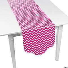 Hot Pink Chevron & Polka Dot Table Runner