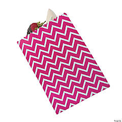 Hot Pink Chevron Cake Bags