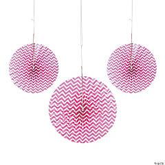 Hot Pink Chevron Hanging Fans