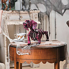 Hot Pink Dachshund Skeleton Halloween Decoration