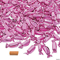 Hot Pink Foil-Wrapped Caramels