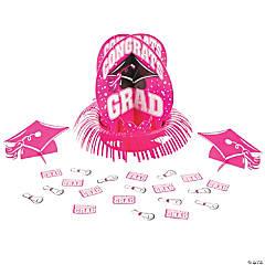 Hot Pink Graduation Table Decorating Kit