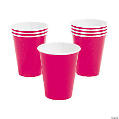 Hot Pink Paper Cups - 24 Ct.