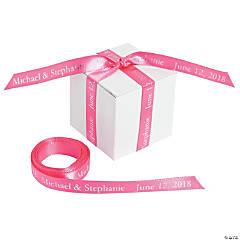 "Hot Pink Personalized Ribbon - 3/8"""