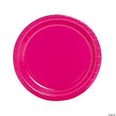 Hot Pink Round Paper Dinner Plates